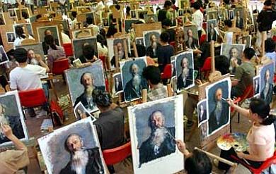 Pintores em Shenzhen City