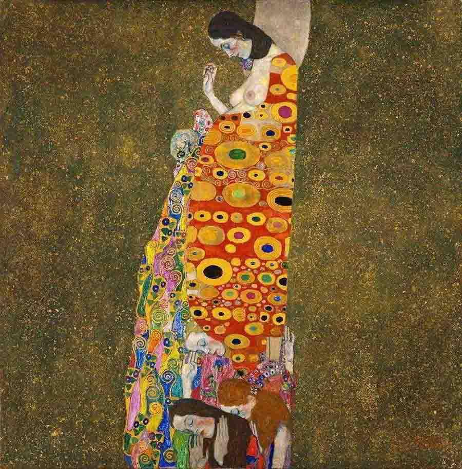klimt-esperanca-d - melhores pinturas Gustav Klimt