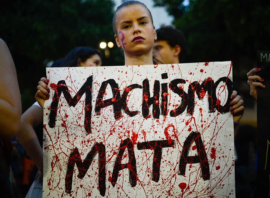 Manifestação contra a cultura do estupro
