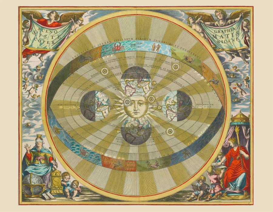 Os Atlas celestiais de Andreas Cellarius para  baixar grátis