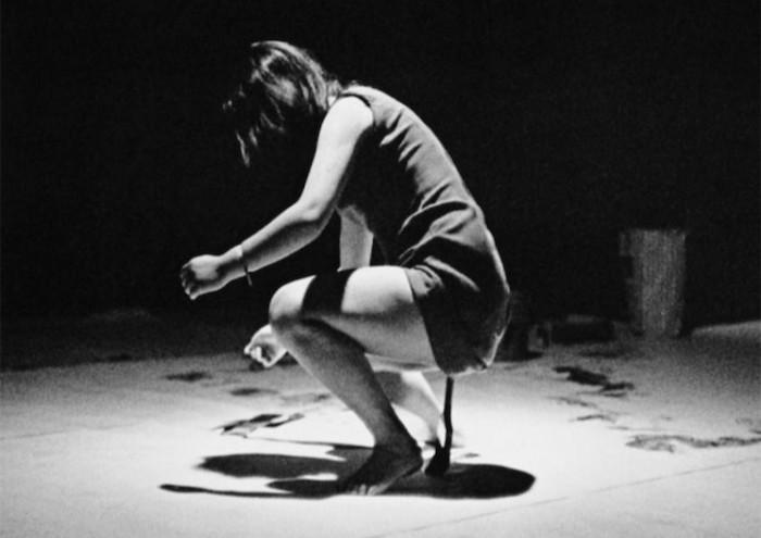 performance; Shigeko Kubota