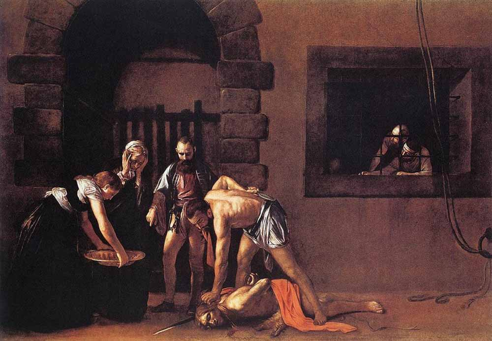 obras; Beheading-of-Saint-John-the-Baptist-caravaggio