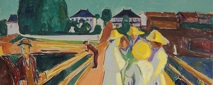 Edvard Munch The Women on the Bridge, 1934–40