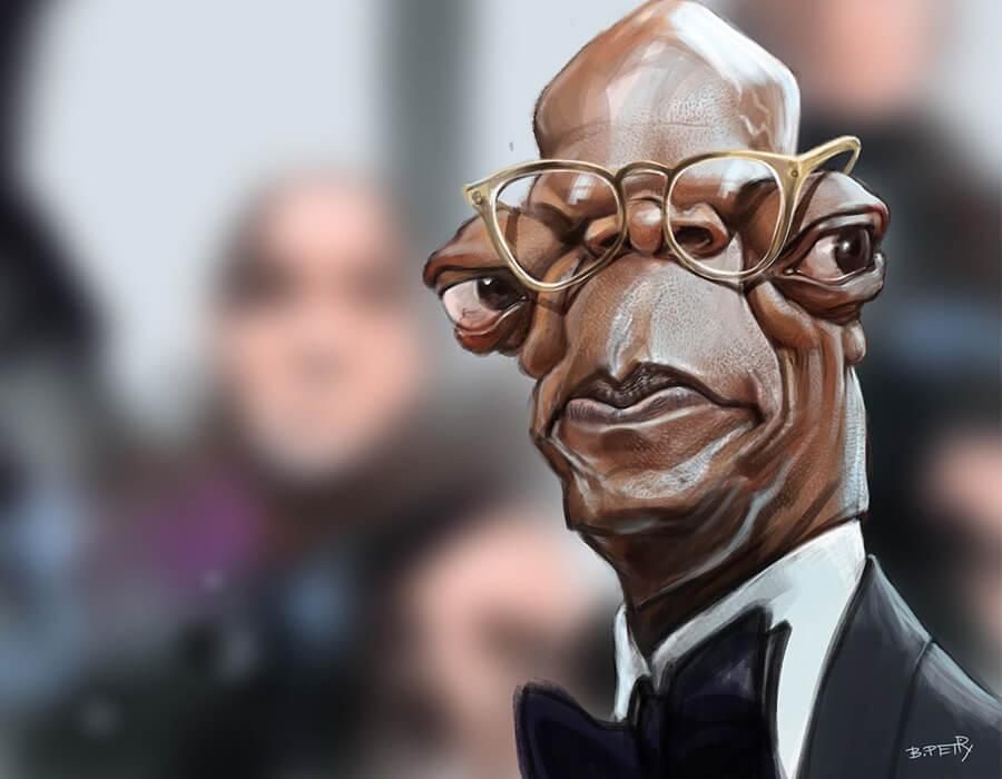 caricaturas de pessoas famosas; Samuel-L.-Jackson-Caricatura-B.-Petry-