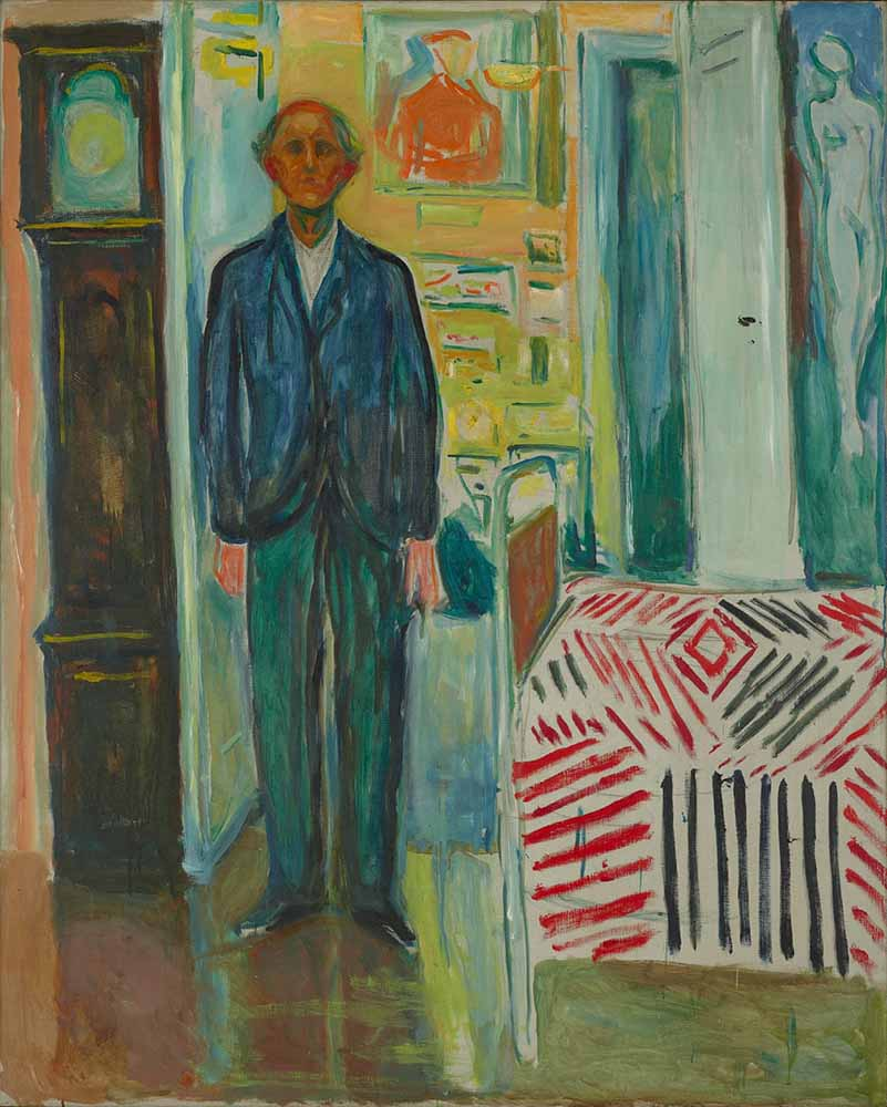 Self-Portrait Between the Clock and the Bed (1940-43)