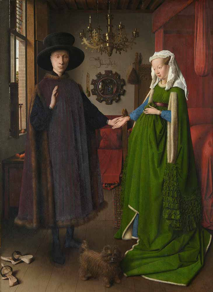 obras; The-Arnolfini-Marriage-painting