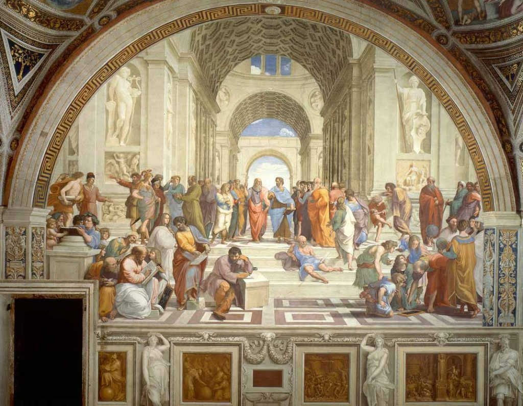 obras; school-of-athens-raphael-painting