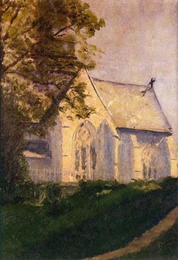 Marcel Duchamp - Church at Blainville (1902)