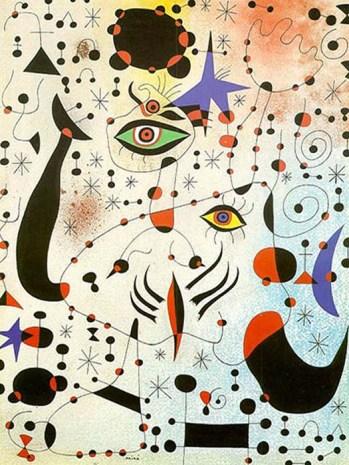Números e constelações em amor com uma mulher (1941); Joan Miró