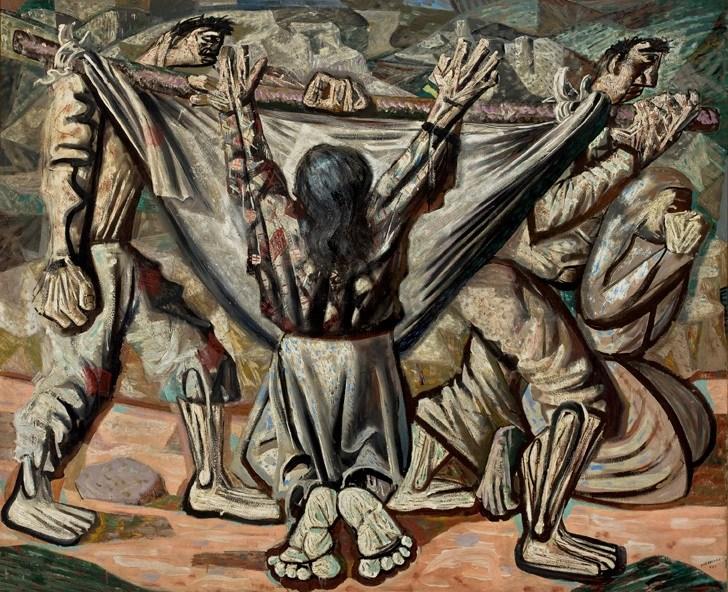 Candido Portinari; enterro na rede