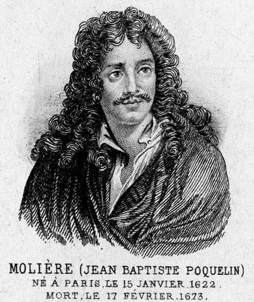 Desenho de Molière