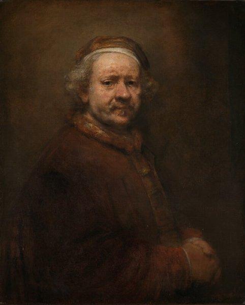 Autorretrato (63 anos de idade, 1669), de Rembrandt
