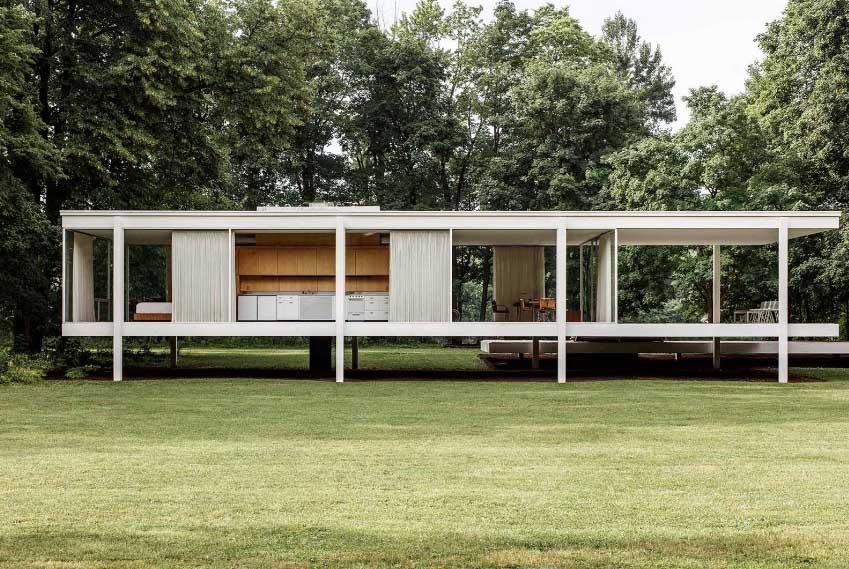 Farnsworth House de Ludwig Mies van der Rohe