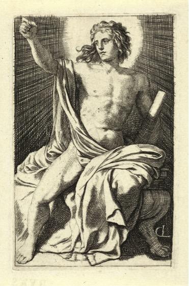Gerard DE LAIRESSE (1641-1711) Apolo, 1670. Gravura, 10,4x0,67. Hollstein Dutch 21 . Rijksmuseum, Amsterdã, Holanda