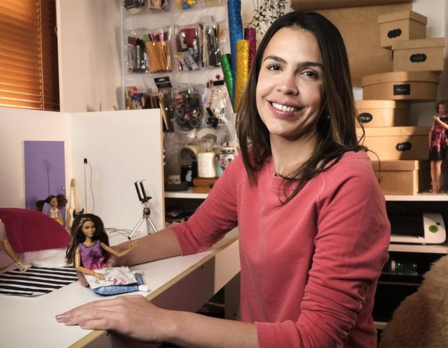 Oficina com a Youtuber Lara Baptista no espaço Faber-Castell