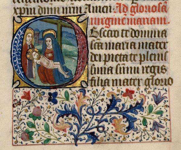 Manuscrito Iluminado - Horas de Notre Dame