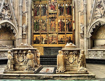 Retábulo na Catedral de Toledo (Espanha)