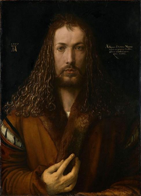 autorretrato; Self Portrait with Fur Collar
