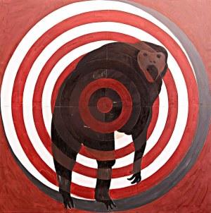Na mira - guariba, 2019 Óleo sobre tela (150 x 150 cm)