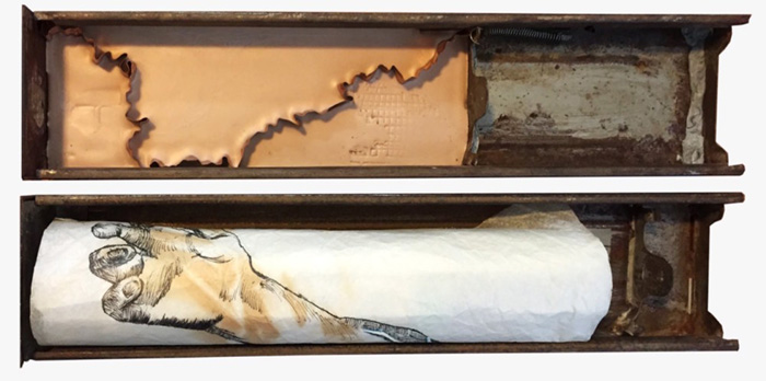 Anna Bella Geiger Braço de rio e braço de Leonardo (Aprés Leonardo), 2001