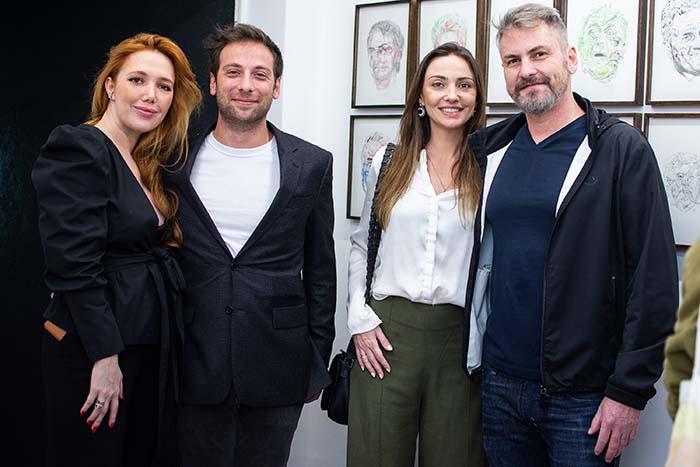 Danila Hadas, Leonardo Rossi, Patricia Franco e Marcelo Lange
