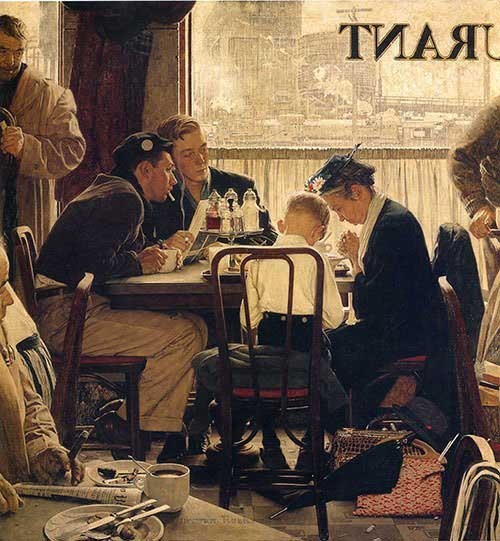 Saying-Grace-1951-Norman-Rockwell