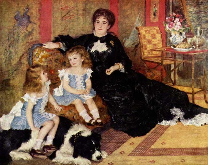 Pierre-Auguste Renoir | Madame Georges Charpentier and her Children (1878)