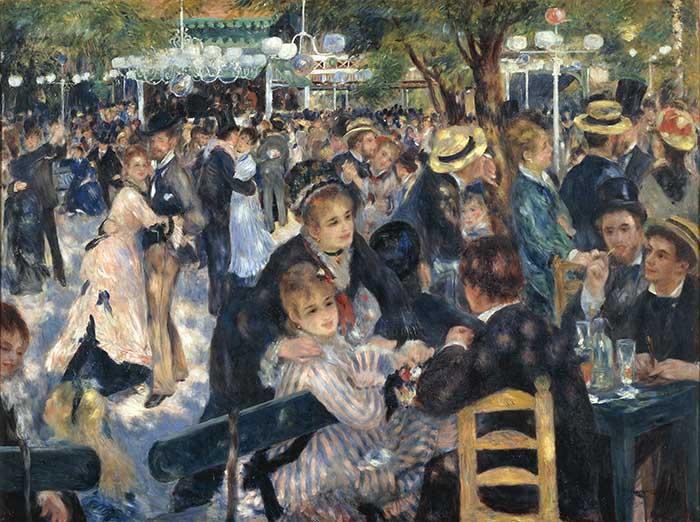 obras mais famosas de Renoir; O Baile no Moulin de la Galette