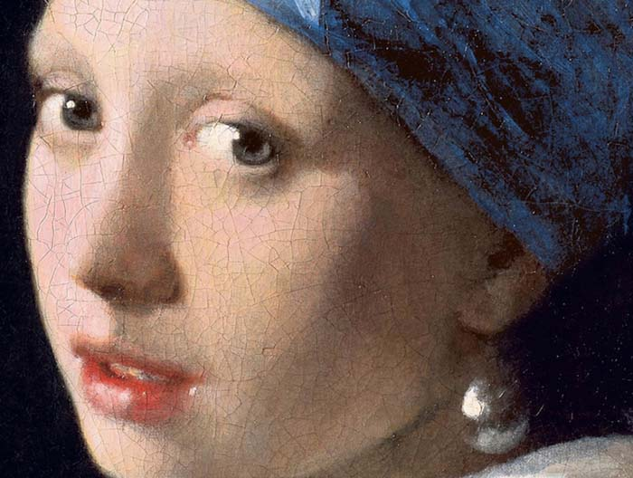 Johannes Vermeer. Moça com Brinco de Pérola (ca. 1665) Créditos: Mauritshuits via Wiki Art