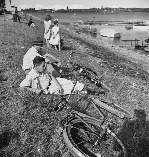 Bairro de Santo Amaro em 1948, quando a região ainda era bastante campestre