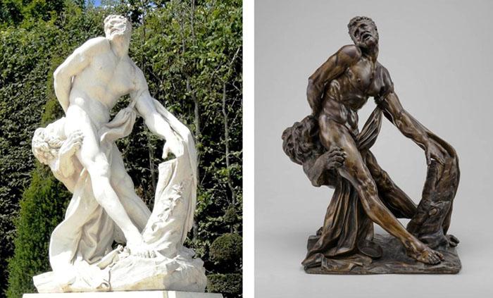 Pierre PUGET (1620-1694) Milo de Crotona, Cópia do original em Mármore, nos jardins de Versailles e cópia em bronze, ca. final do século XVII e início do século XVIII.  61.6x47x38.1. National Gallery of Art, Washington, EUA.