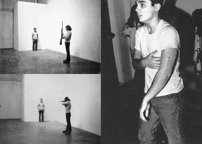 Chris Burden. Shoot (1971).