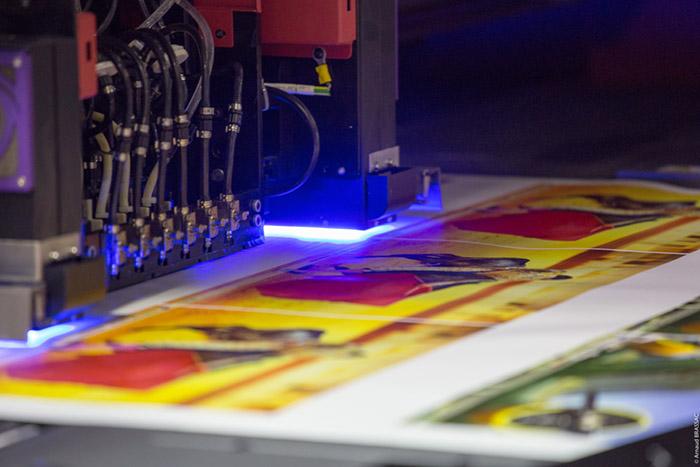 transformar uma fotografia em um quadro; Impressão UV