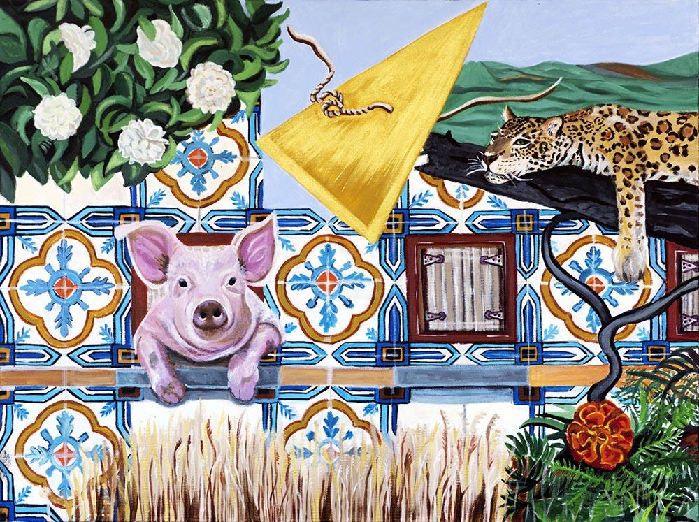 Fernanda Eva - casa do porquinho 60x80 cm