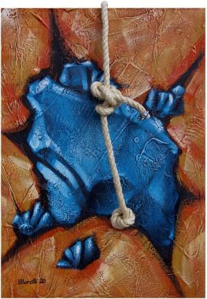 Gilberto Moralli. Pedra Flutuante Azul