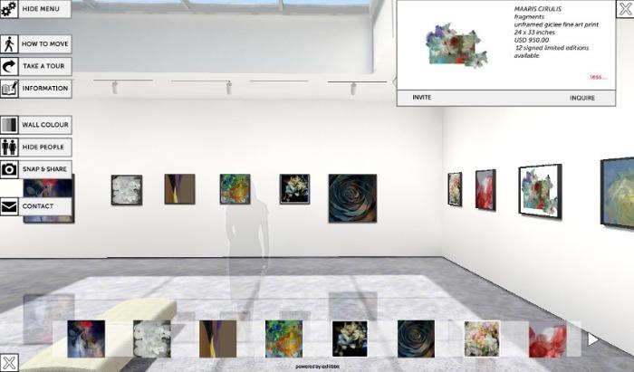 genérico de uma galeria de arte online Exhibbit 3D