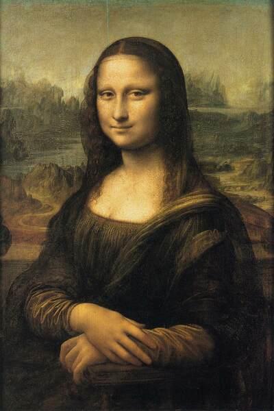 Leonardo Da Vinci, Mona Lisa (La Gioconda), 1503-5, Óleo sobre Painel, 77 x 53 cm Musée du Louvre, Paris