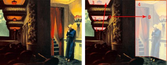 """New York Movie"". Edward Hopper, 1939. Óleo sobre Tela, 82 x 102cm"
