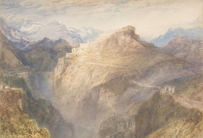 Joseph Mallord William TURNER (1775‑1851) O Forte de L'Esseillon, Val de la Maurienne, França, 1835-1836.