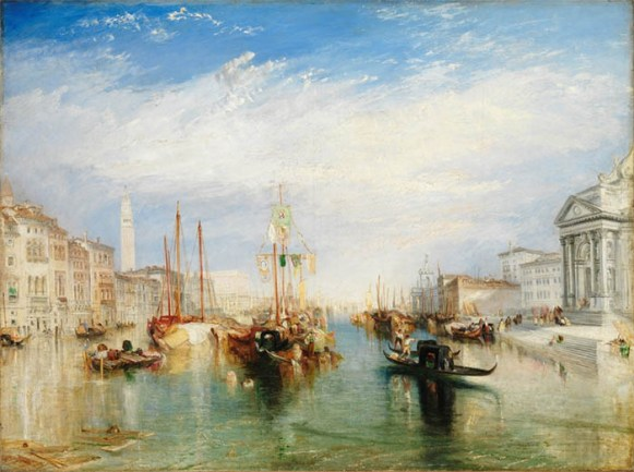 Joseph Mallord William TURNER (1775‑1851) Veneza, do Pórtico de Madonna della Salute, ca. 1825.