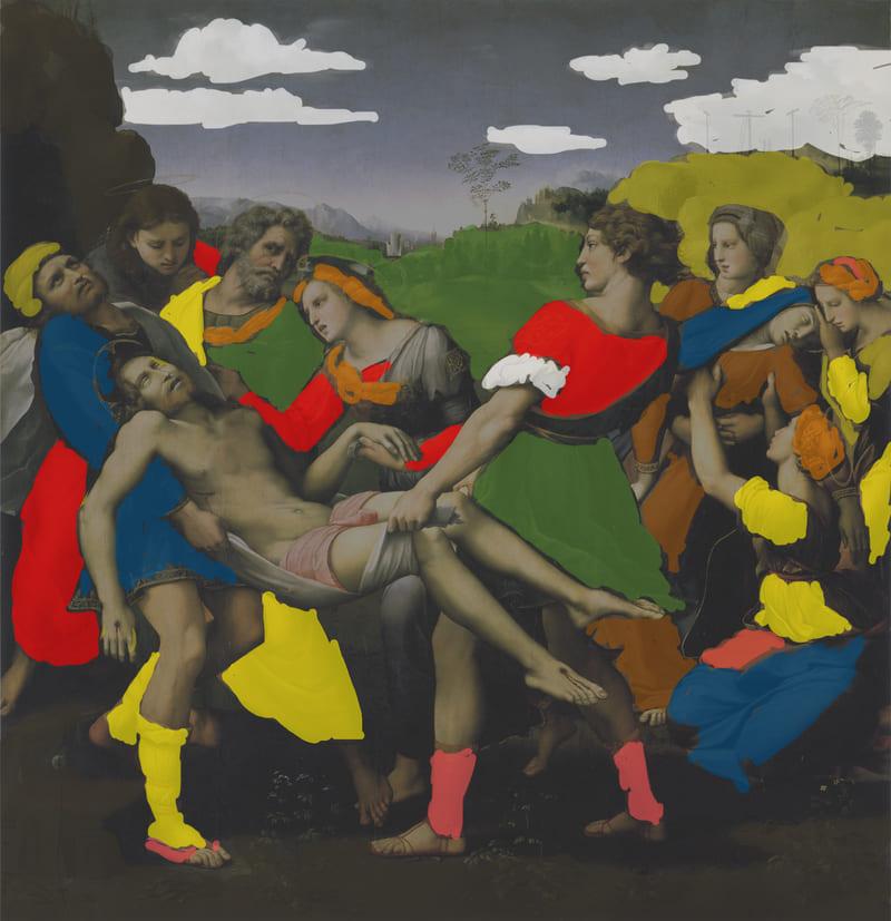 A deposição. Raffaello Sanzio, 1507. Óleo sobre Painel, 184 x 176 cm. Galleria Borghese.; pintura figurativa