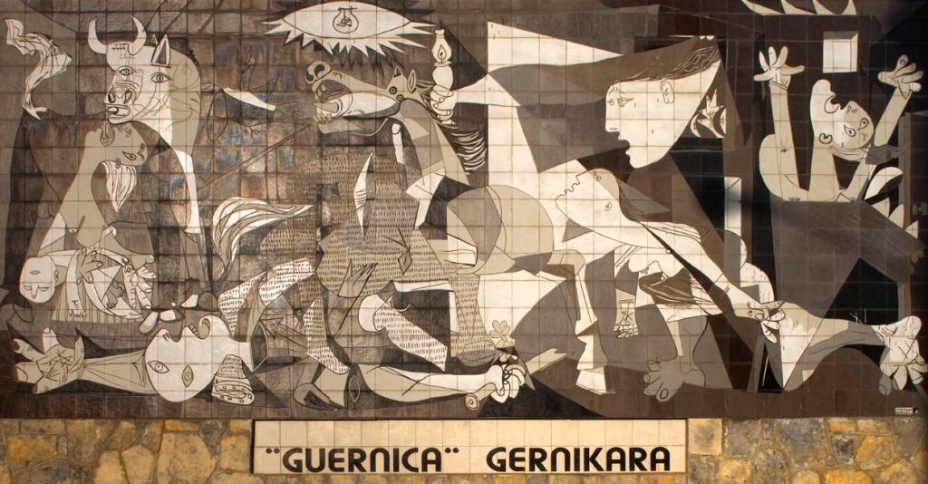 Pablo Picasso. Guernica, 1937 | Pintura a óleo | 350  × 776 | Museu Nacional Centro de Arte Reina Sofia