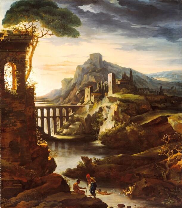 Jean-Louis André Théodore GÉRICAULT (1791-1824) Noite: paisagem com um aqueduto, 1818. Óleo sobre tela, 250.2 x 219.7. Metropolitan Museum of Art, Nova York, EUA.