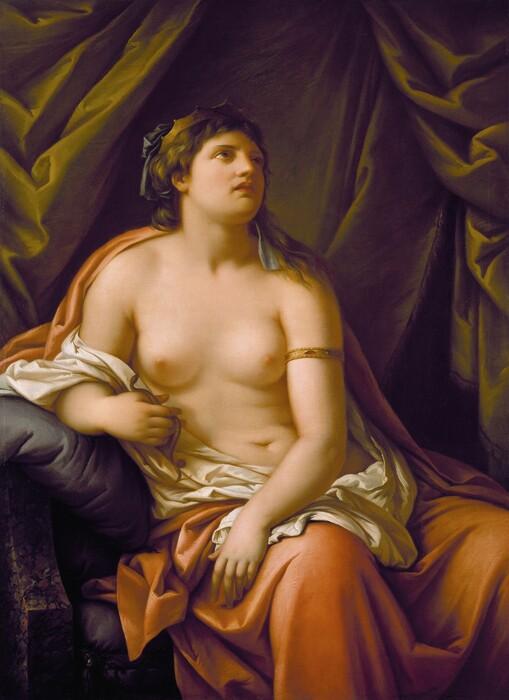 Gavin HAMILTON (1723-1798) Cleópatra, 1767-1769. Óleo sobre tela, 134.6×98.4. Detroit Institute of Arts. Detroit, MI. EUA.