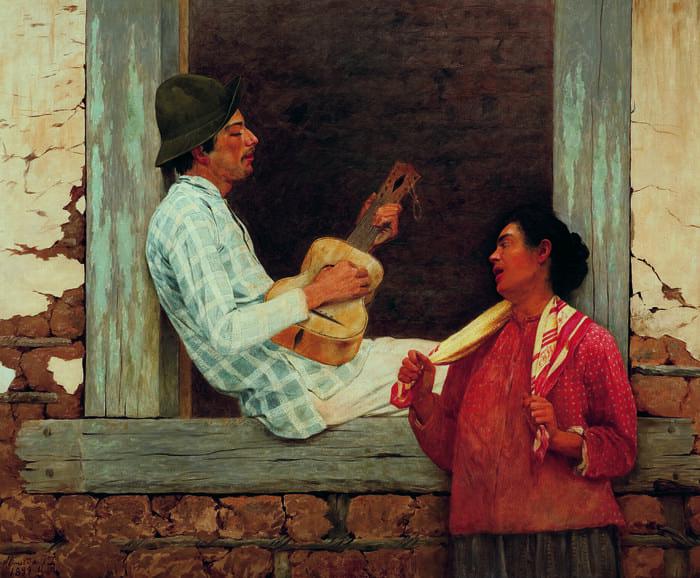 O violeiro, 1899, Almeida Júnior