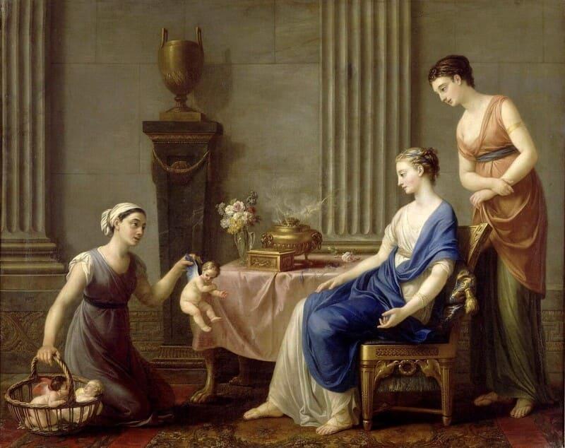 Joseph-Marie VIEN (1716-1809) A Mercadora no Banheiro, conhecido como A Mercadora do Amor, 1763-1765. Pintura sobre tela, 98x122. Em depósito no Musée national du château de Fontainebleau, Fontainebleau, França.