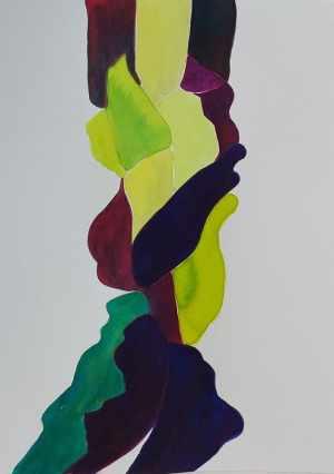 Marisa Carvalho - Ressoar II, 2021, ecoline, 32 x 24 cm
