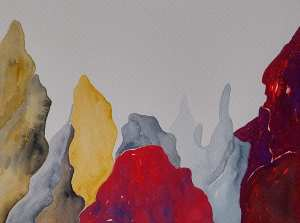 Marisa Carvalho - série Paisagem II, 2021, ecoline, 24 x 32 cm