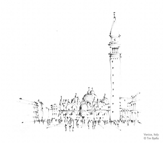 Tim Bjella Sketches - Venice 3