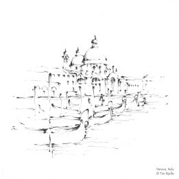 Tim Bjella Sketches - Venice Grand Canal